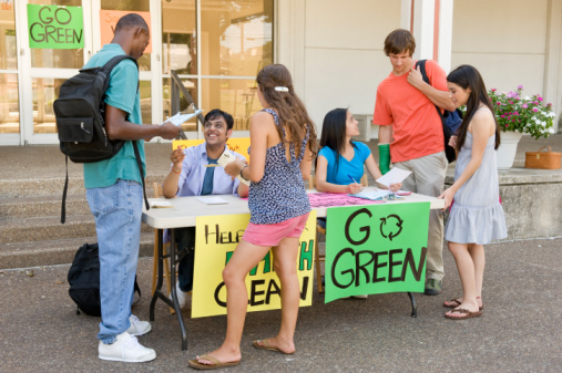 Green student groups promoting on campus