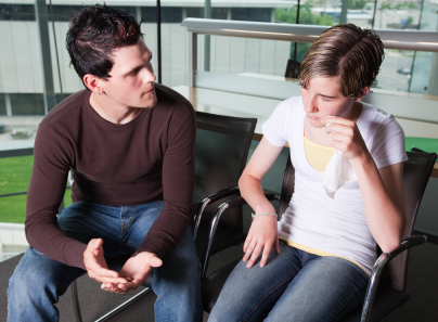 Couple having a tough conversation