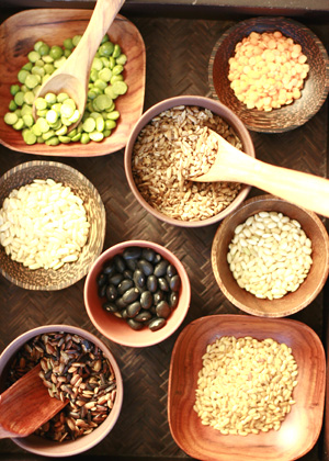 Assortment of whole grains