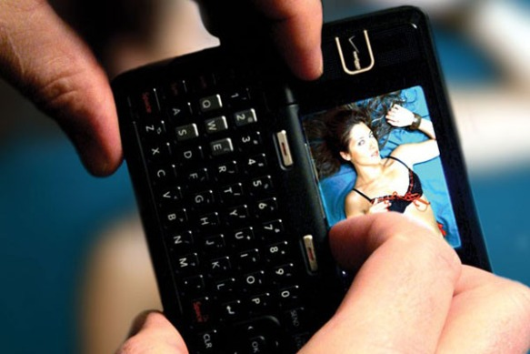 """Cell phone receiving a """"sext"""""""